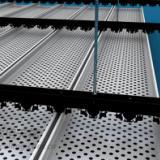 供应专业加油站吊顶铝条扣板-烟台加油站吊顶铝条扣板批发-高边冲孔D型防风式铝条扣板直销