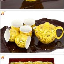 黄金盏双层杯防烫手功夫茶具套装