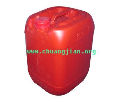 20L方形塑料桶 20升红色方形堆码桶 20升方形闭口化工桶