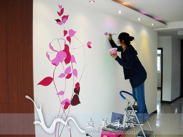 上海立美手绘上海家居艺术墙绘图片