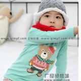 供应韩版长袖童装上衣批发时尚童装秋装