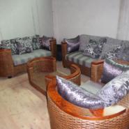 南充市古典/现代藤艺客厅沙发组合图片