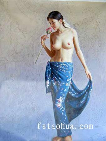 供应人物油画作品欣赏订购油画肖像