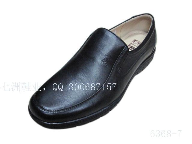 套脚男士休闲皮鞋