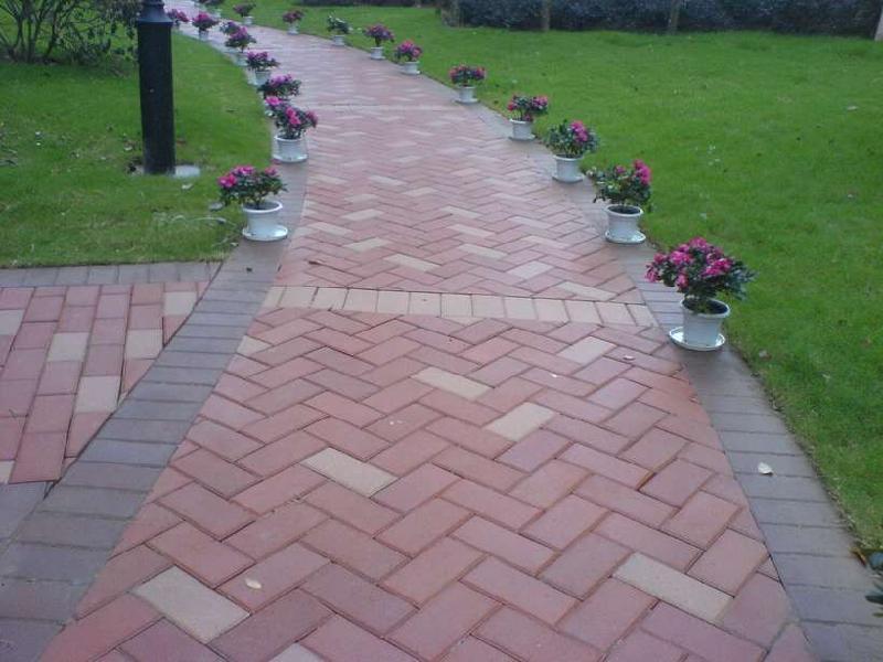 植草砖图片 植草砖样板图 透水砖荷兰砖人行道板砖植草砖 高清图片