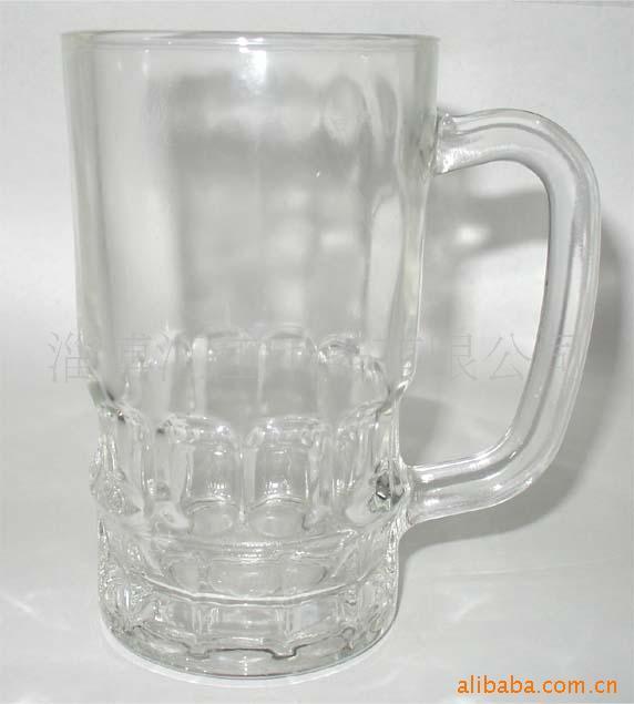 供应带把的扎啤杯玻璃杯生产厂报价定做