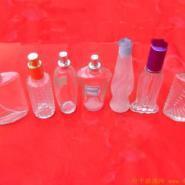 高档香水瓶生产厂蒙砂喷涂烤花加工图片