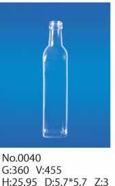 450毫升山茶油方瓶玻璃瓶生产厂