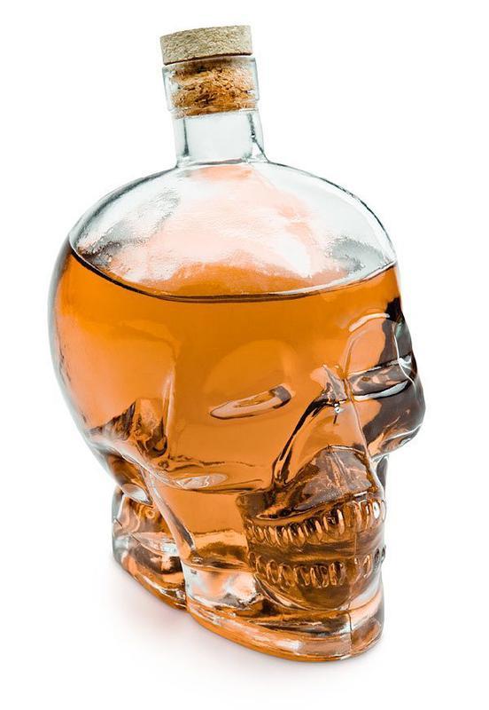骷髅头酒瓶玻璃瓶