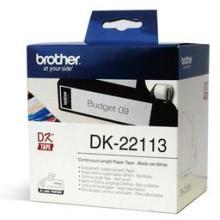 供应兄弟连续标签色带DK-22113透明底黑字62mm15m批发