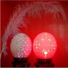 供应鸵鸟蛋雕刻工艺品价格