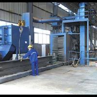 H型钢型钢槽钢角钢方钢扁钢钢管表面抛丸喷砂除锈清理机械设备