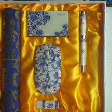 供应北京上海会议纪念青花礼品套装