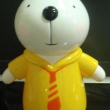 黄色咪兔钱罐,批量ABS塑料储蓄罐,来料来图加工塑料储钱罐
