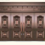 西安别墅铜门真紫铜门厂家图片