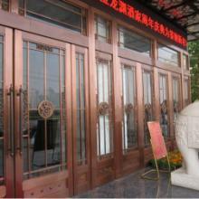 郑州会所铜门【玻璃铜门】【地弹簧铜门】【酒店铜门】图片