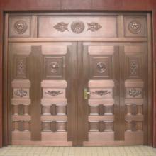河南四开铜门-四开玻璃铜门 品种齐全 厂家直接供货图片