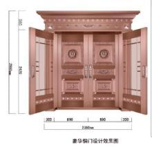供应郑州最好铜门订做厂家品质保证 价格实惠 买的放心 紫铜门 铜门批发