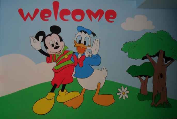 幼儿园走廊墙壁布置_图片素材图片