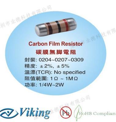 碳膜无脚电阻图片/碳膜无脚电阻样板图 (1)