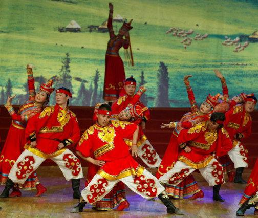 蒙古族舞蹈图片