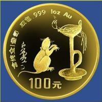 97熊猫二十分一铂币金银币品
