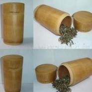 竹茶叶桶激光打标刻字雕刻图案图片