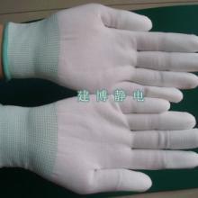 供应惠州PU涂指手套防割手套厂家电话/电子业工作防护手套批发图片