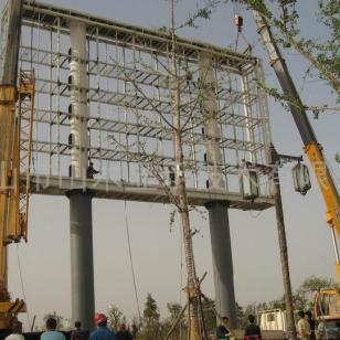 LED显示屏钢结构施工方案图片