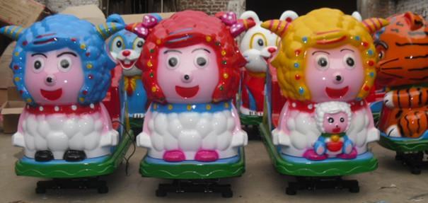 供应郑州济源电动玩具喜羊羊系列摇摇车小飞机系列投币机儿童摇摆式摩托车