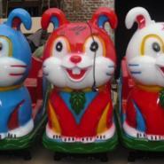 漯河蓝兔红兎小白兔摇摇车摇摆机图片