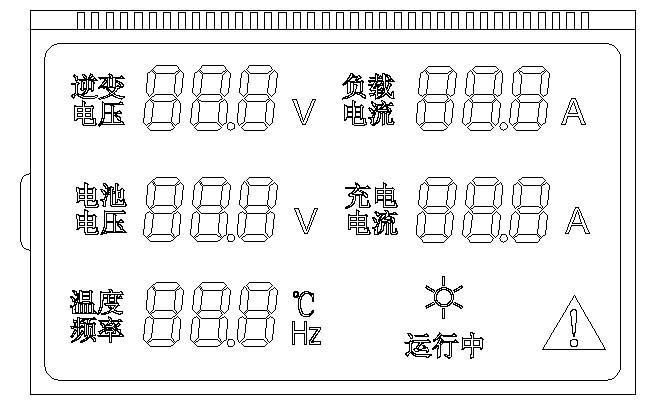 供应电表LCD液晶显示屏开发图片