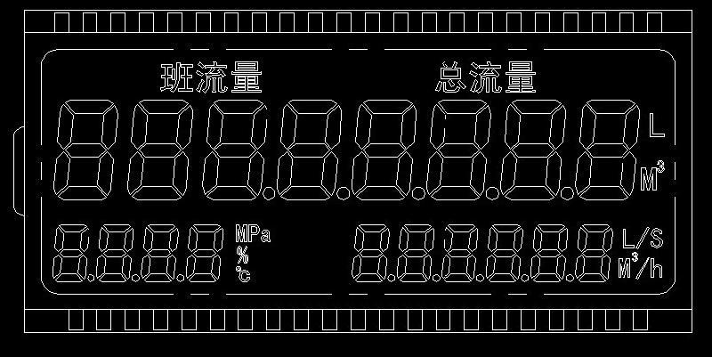 供应流量表显示屏LCD开发图片