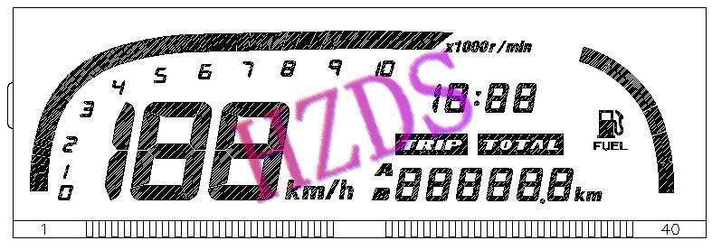 供应汽车电器仪表液晶显示屏图片