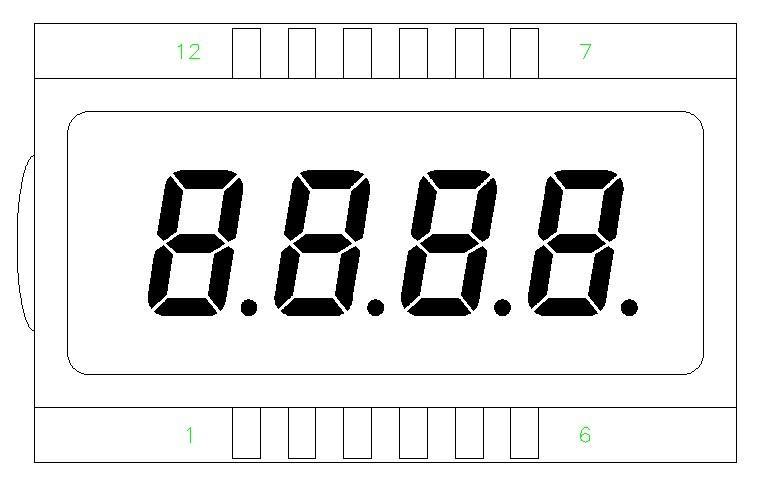供应8888液晶屏现货供应带小数点图片