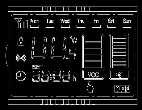供应温控器液晶显示模块开发图片