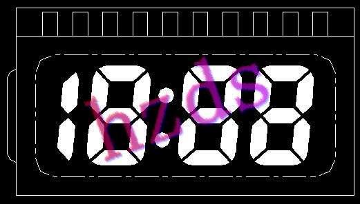 供应各种8字数字液晶显示屏产品开发图片