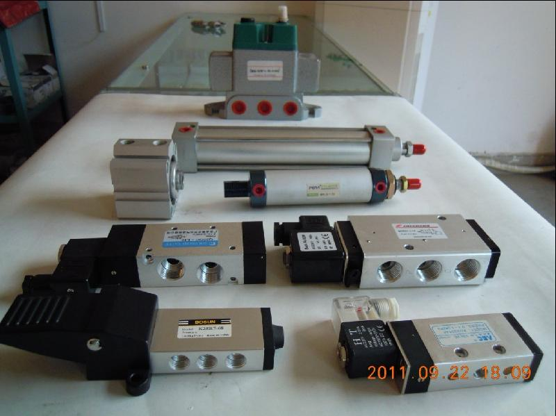 气缸电磁阀接线图; 图片