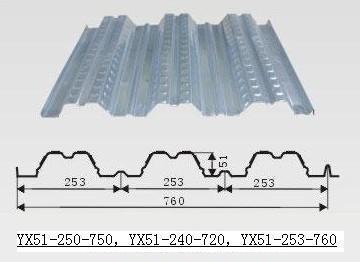 供应杭州YX51-250-750型开口式楼承板