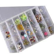 开馨宝透明盒超大号28格可组装DIY首饰盒/储物盒