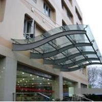 供应用于小区门头|大型广场|办公场所的玻璃雨篷