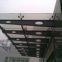 供应用于公司门头|办公楼|停车场的宁夏省玻璃雨篷制作