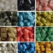 青色/粉红色/绿色PP再生颗粒图片