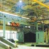 供应工程机械焊接件喷丸打砂除锈机械/工程机械结构件表面抛丸清理机