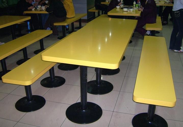 厂家直销/十人位玻璃钢连体快餐台 工厂学校餐桌 多人快餐桌