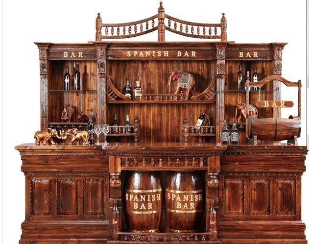 供应大吧台/酒吧吧台/3米大吧台/KTV茶厅前台/碳化木制品