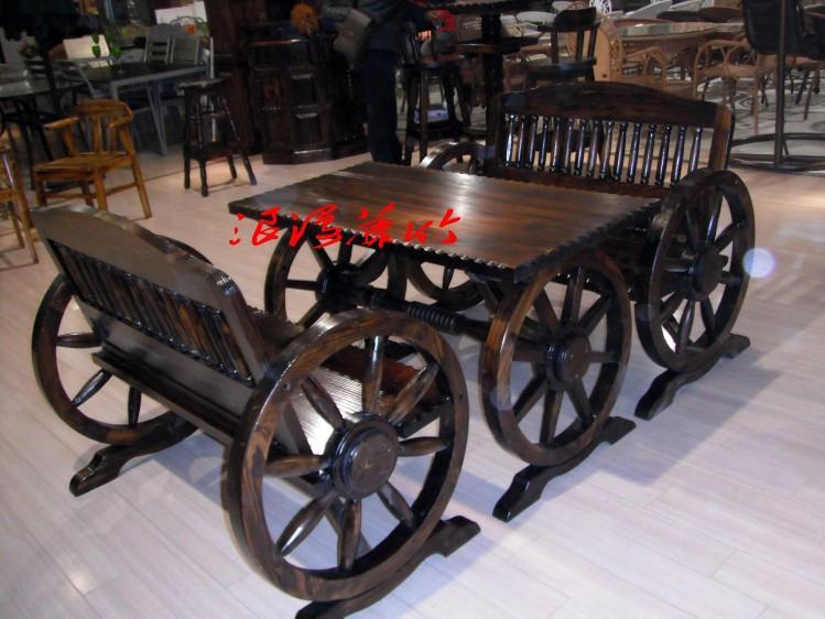 供应实木双人车轮椅制作、仿古式休闲双人车轮椅供货商、 碳化双人车轮椅