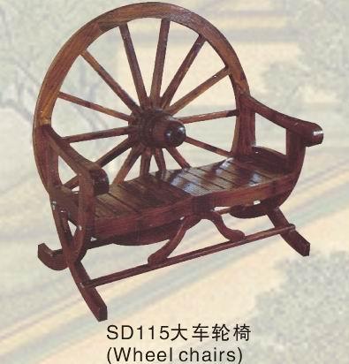 供应古典实木家具酒吧咖啡茶馆大车轮椅厂家