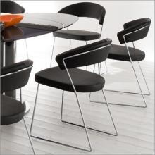 供应欧美风格金属椅/pu餐椅