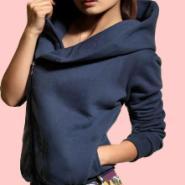 今秋最有型单品之韩版斜拉链卫衣图片